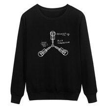 Drucken Zurück In Die Zukunft Hoodies Schwarz Männer/frauen Mode Und Hip Hop Stil Baumwolle Sweatshirts Lustige Luxus In Plus Größe 4XL