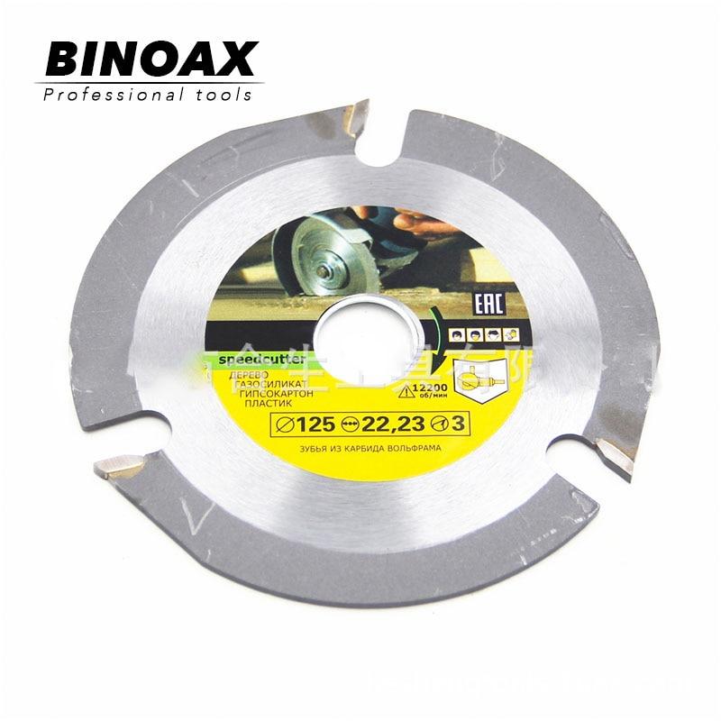 BINOAX 115cm/125mm 3T Circular Saw Blade Multitool Wood Carving Cutting Grinder Saw Disc Tool