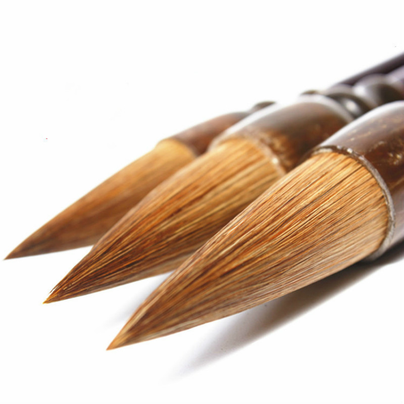 3pcs/set Excellent Quality Weasel Hair Chinese Calligraphy Brushes Painting Supplies Calligraphy Brush Couplet Calligraphy Pen 3pcs set chinese calligraphy brushes pen with weasel hair writing brush artist paint brush