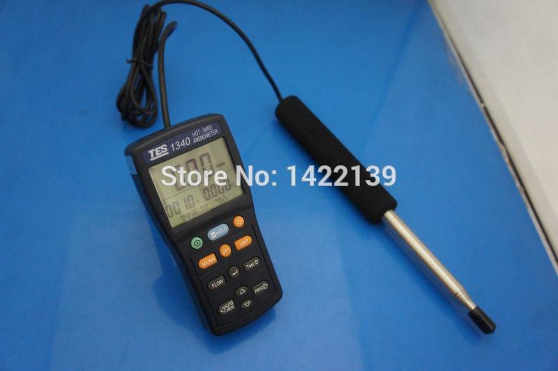 TES-1340 anémomètre à fil chaud anémomètre numérique anémomètre à Air