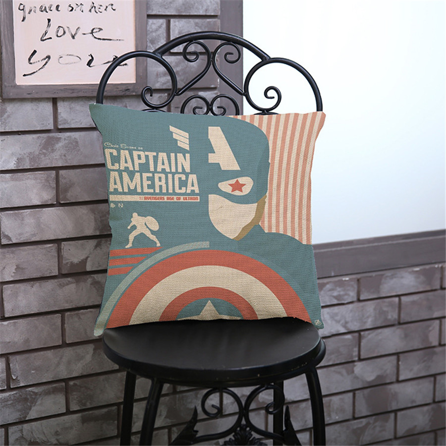 Super heros creative printing avengers Pillow case Cushion Cover Home sofa hotel club coffee shop Decoration for children gift