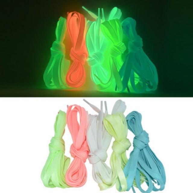 Par 120 CENTÍMETROS 8 1 MM Esporte Brinquedos Luminosos Acessórios Das Sapatas de Lona Cadarço Brilham No Escuro Brinquedos Presente Para rolo crianças Patins