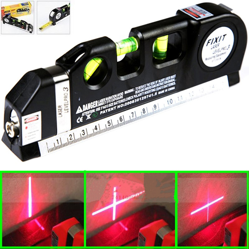 New Multipurpose laser level line lasers Horizon Vertical Measure Tape Ruler Tool with Tape Measure Analytical Instruments elecall em5416 200 high quality multipurpose level with bubble laser horizon vertical measure tape the horizontal ruler