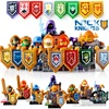 2017 HOT 8PCS Compatible LegoINGlys Elemental Knights With Shields Weapons Action Toy Gift Toys For Children
