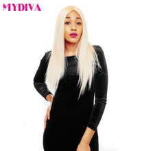 Mydiva Straight Brazilian Non-remy 100% Human Hair Extension Blonde Color 100g 12inch To 24inch 1Pcs/Lot Free Shipping