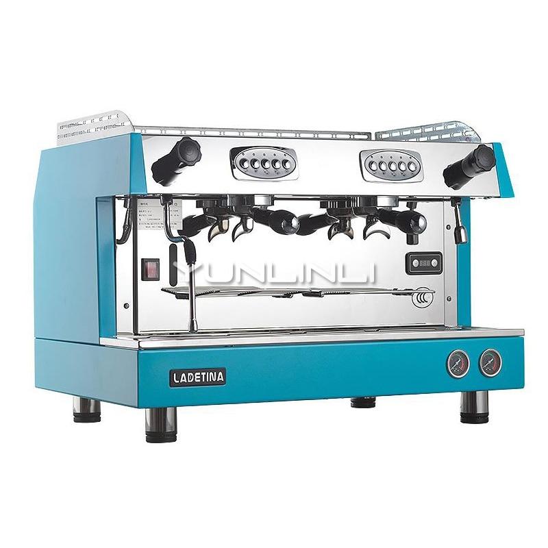 YUNLINLI Commercial Coffee Machine Semi Automatic Espresso Coffee Maker Grinder Double headed Italian Home Coffee Maker DZ 2A