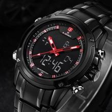 Мужские часы лучший бренд класса люкс кварцевые наручные часы мужские Полное стали наручные часы naviforce Relogio Montre Homme Reloj 2016