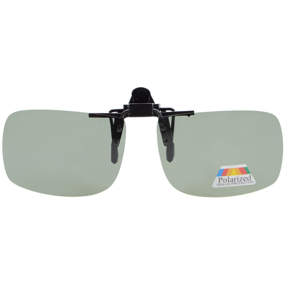 F68 Eyekepper Retangular Polarizada Clip-on Óculos de Sol Óculos de Virar  para cima 9e9c21c733