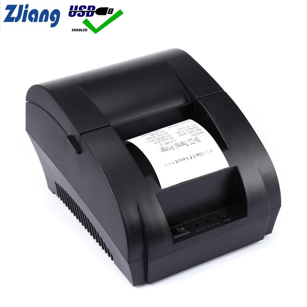 купить Original Zjiang Thermal Printer Mini 58mm USB POS Receipt Printer For Resaurant and Supermarket по цене 1513.62 рублей
