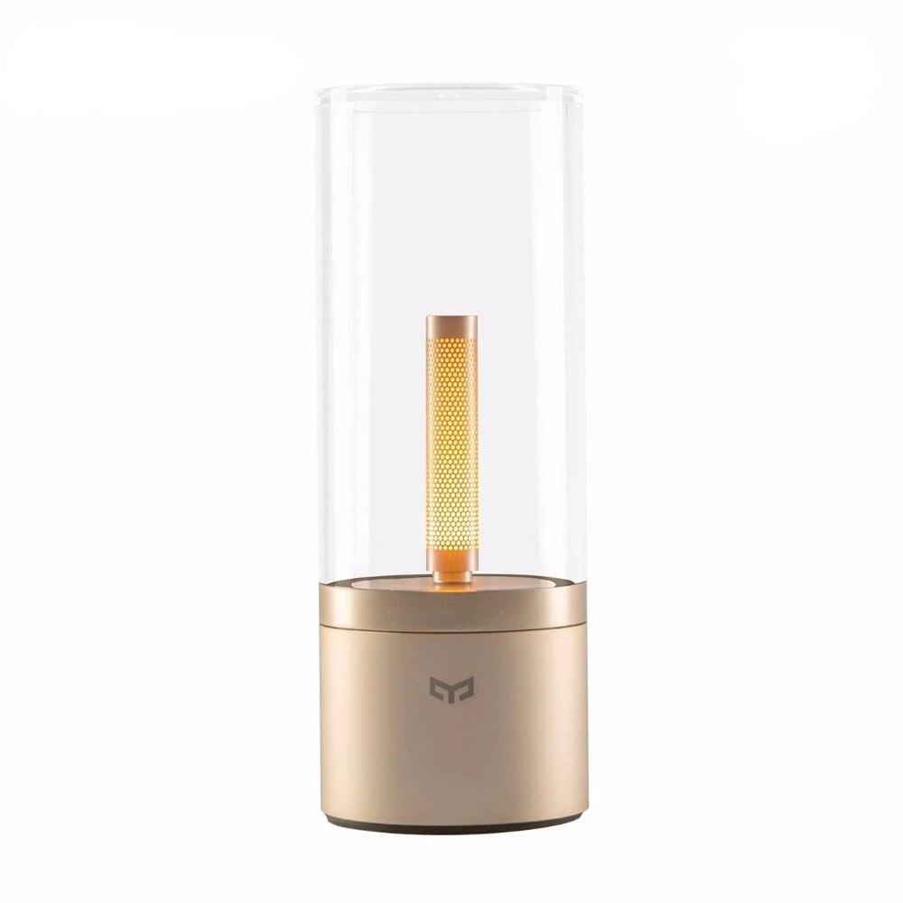 Nowy Xiao mi mi jia Yeelight atmosferę lampa w stylu Vintage inteligentny Candela światła Led ściemniania lampki nocne światło nocne dla Xiao mi mi App domu w Inteligentny pilot zdalnego sterowania od Elektronika użytkowa na  Grupa 1