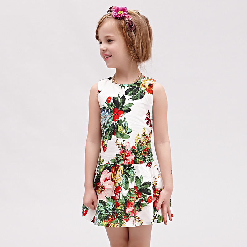 adbcb59e4fb67 2016 New Arrival Girl Spring & Summer Floral Princess Dress Children Fashion  Cotton Ball Gown Kids Sleeveless Clothes , LC781-in Dresses from Mother &  Kids ...