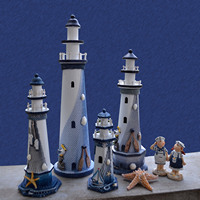 Shell Fishing Net Lighthouse Home Accessories Model Creative Living Room Shop Decorations Ornaments