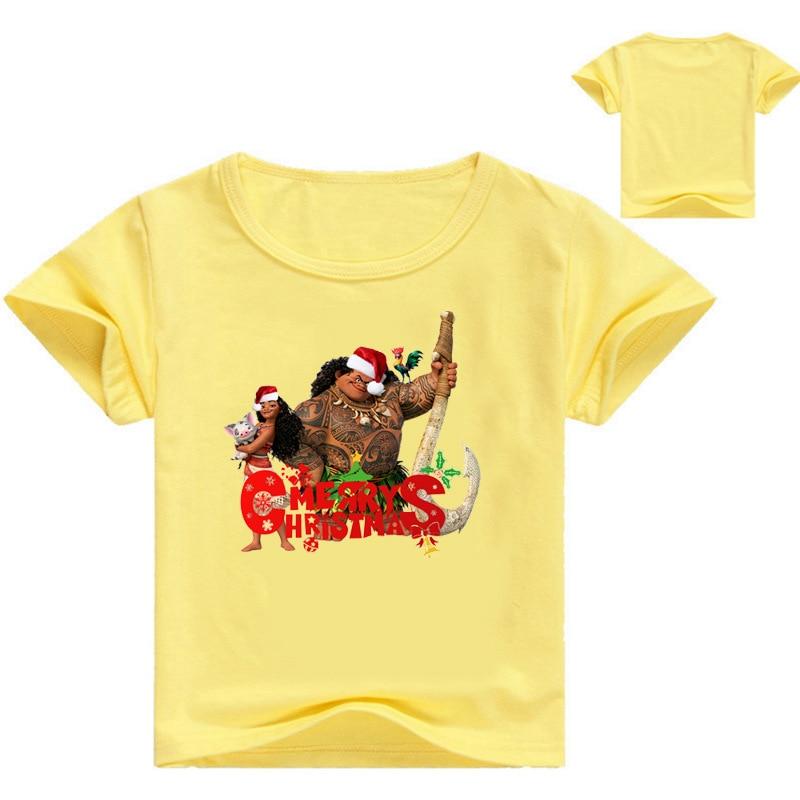 Z&Y 3 16Years Moana Vaiana Xmas Clothes Baby Merry Christmas Shirt ...