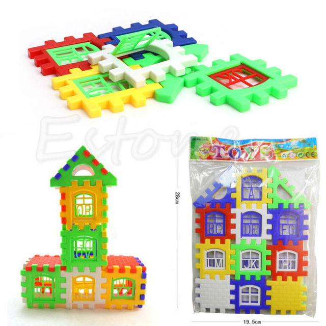 Baby Kids Children House Building Blocks Educational Learning Construction Developmental Toy Set Brain Game