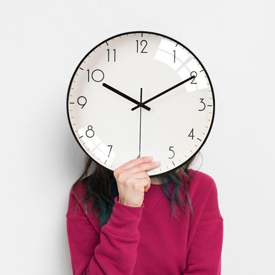 US $58.2 50% OFF Creative Wall Clock Living Room Simple Modern Design  Digital Wall Watches Home Decor Large Clocks Kitchen Marij Uana Vintage  B43-in ...