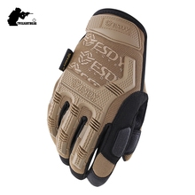 New Seal Tactical Gloves Military Super Fiber Protective Wearproof Full Finger Glove Outdoor Climbing Riding Gloves AE003