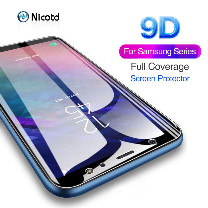 9D Tempered Glass For Samsung Galaxy A8s M10 M20 M30 J4 J6 J8 Plus 2018 Screen Protector A8 A9 A7 2018 A6S Protective Glass Film