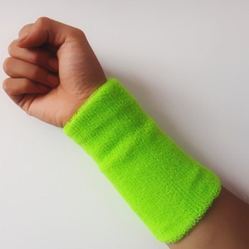 100% Cotton Gym Protector <font><b>Wristbands</b></font> <font><b>Wristband</b></font> Tennis/Basketball/Badminton Wrist Support Sports Protect Sweatband