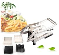 Brand New Stainless Steel Vegetable Potato Slicer chipper French fry potato cutter machine + blades kitchen gadgets