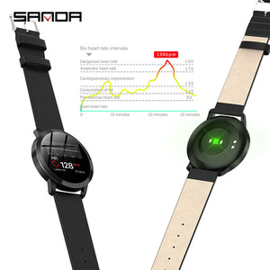 Image 5 - SANDA CF18 relojes de pulsera digitales inteligentes para hombre y mujer, reloj de pulsera Digital con control del ritmo cardíaco, llamadas y recordatorios