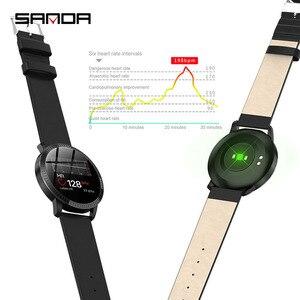 Image 5 - ساعات يد رقمية ذكية جديدة من SANDA طراز CF18 للنساء/الرجال ، ساعات نسائية لتذكيرك على المكالمات ، ساعات لمراقبة معدل ضربات القلب ، ساعات للتجميل خطوة السعرات الحرارية