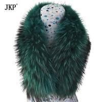 New Genuine raccoon fur collar ( Blue/Orange/Pink/Green) scarf shipping free
