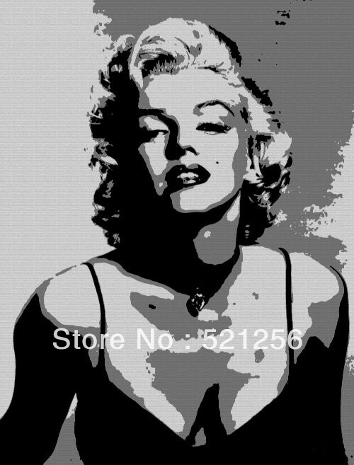 Popular famous marilyn monroe paintings buy cheap famous for Black and white celebrity prints