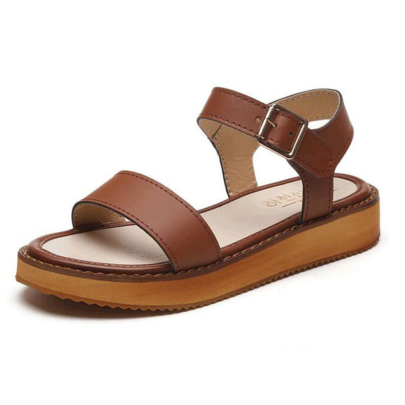 Fashion Hot 2017 Summer Beach Women Shoes Platform Sandals Soft Leather Casual Open Toe Gladiator Wedges Trifle Flip Flops Black phyanic 2017 gladiator sandals gold silver shoes woman summer platform wedges glitters creepers casual women shoes phy3323