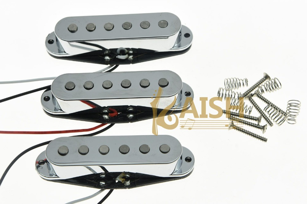 3x N/M/B Chrome Alnico 5 Single Coil Pickups High Output Sound Strat SSS Pickup tsai hotsale vintage voice single coil pickup for stratocaster ceramic bobbin alnico single coil guitar pickup staggered pole
