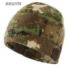 ZXQYH флисовая уличная Кепка, зимняя шапка, Мужская теплая Тактическая Военная Кепка, горная Панама, шапка для рыбалки, пешего туризма, кемпинга, велоспорта, спортивная шапка