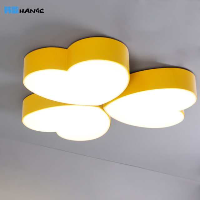 New Color Heart Shaped Cartoon Lamp Ceiling Lights Bedroom - Childrens lights for bedrooms