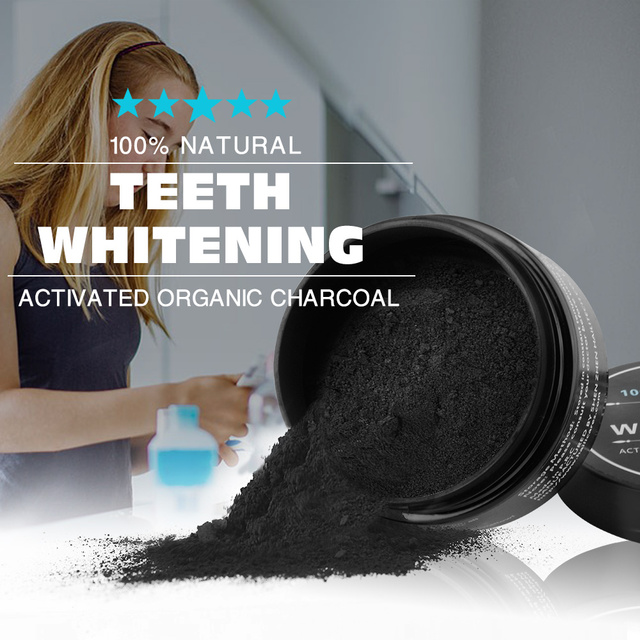 Bamboo Charcoal Teeth Whitening Powder, Toothbrush & Toothpaste Set