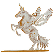 Unicorn scale model 3D wooden DIY assembly toys diorama in model maquetas para armar adultos diorama