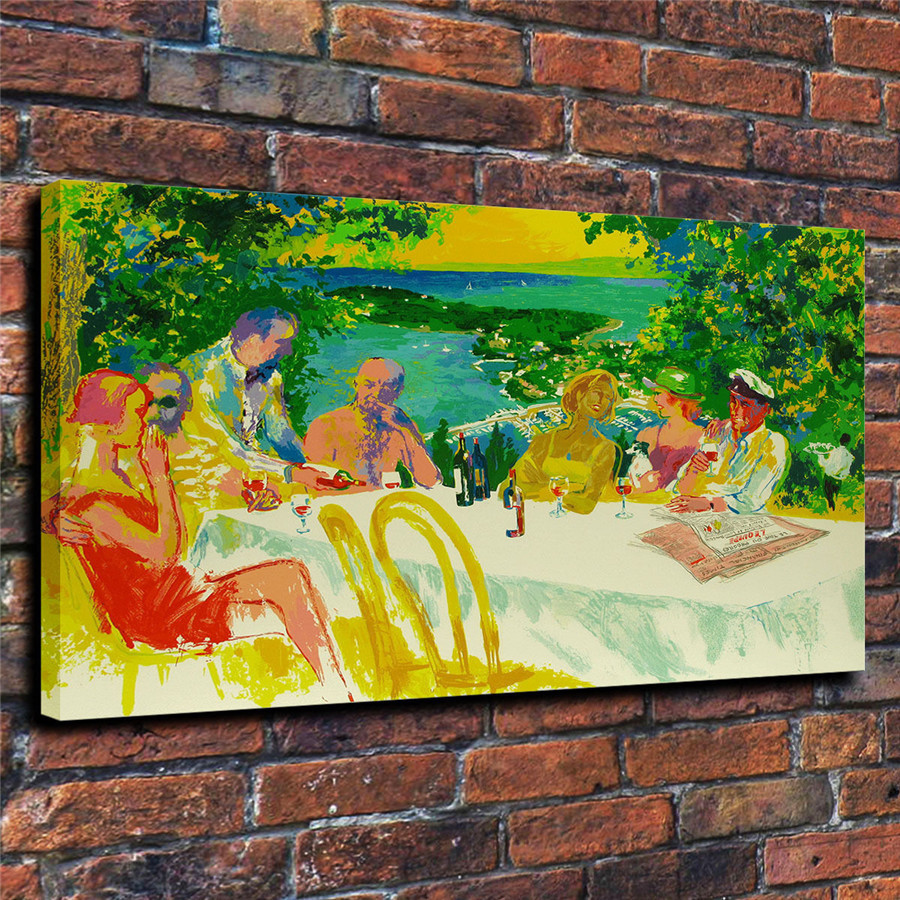 LeRoy Neiman Music and Sports Event Color Print Canvas Painting Living Room Bedroom Home Decor Modern Mural Art Oil Painting#004