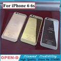 24k Gold Plate Housing For iPhone 6 24K 24KT 24CT Limited Edition Mirror GOLD Back Housing with Diamonds DHL Free