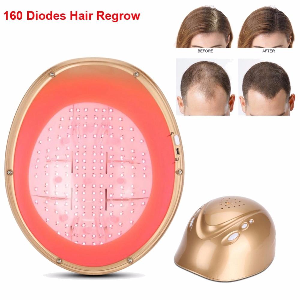 160 Diodes cheveux repousse Laser casque LLLT Cap Anti perte de cheveux casquette poils rapide repousse traitement casquette cheveux croissance Massage équipement