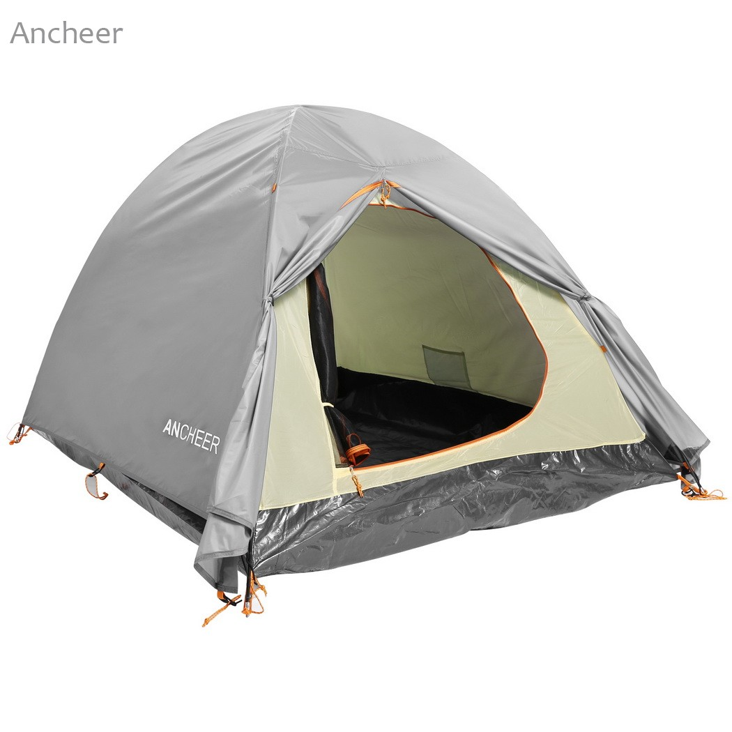 ANCHEER Brand New C&ing Tent 2 Person C&ing Hiking Tent Dual Layer 2 Pole Freestanding Dome Tent with carrying bag-in Tents from Sports u0026 Entertainment ...  sc 1 st  AliExpress.com & ANCHEER Brand New Camping Tent 2 Person Camping Hiking Tent Dual ...