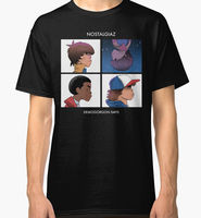 Stranger Things Nostalgiaz Men S Black T Shirt Clothing Style Vintage Tees Short Sleeve Funny Top