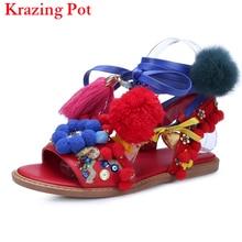 2017 Мода Китайский Стиль Бренда Обувь Сексуальная Цветок Стрэп босоножки Женщин Сандалии Цвета Мяч Тонкий Гладиатор обуви L56