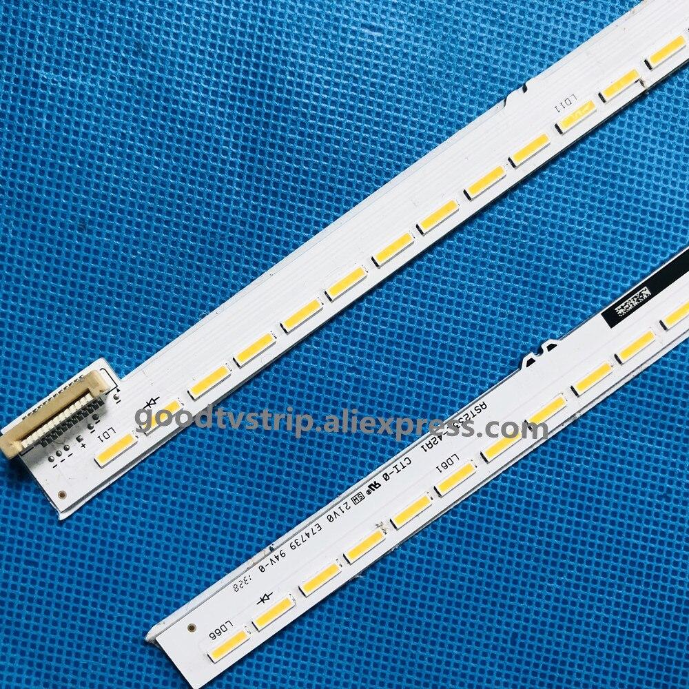 2 peças set tira Retroiluminação LED para