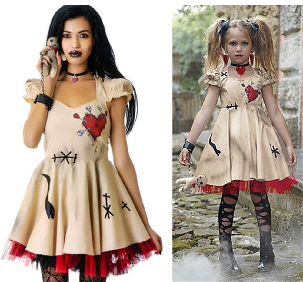 CostumeBuy New Arrival Women Halloween Costume Voodoo Doll Costumes Witch Doctor Cosplay Dress L920