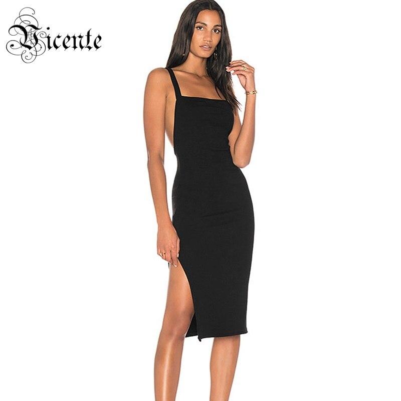 52ce959f3290 Nero Il Slittamento Elegante Fasciatura Commercio Maniche Del Senza Hot  Sexy Backless Della New 2019 Split ...