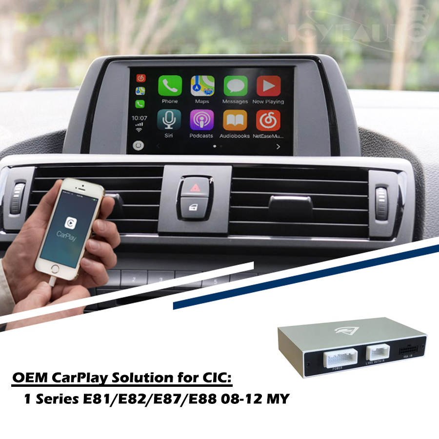 Aftermarket 1 series E81 E82 E87 E88 CIC 08 12 OEM Apple Carplay Android Auto Upgrade SmartAuto Retrofit for BMW Waze Spotify