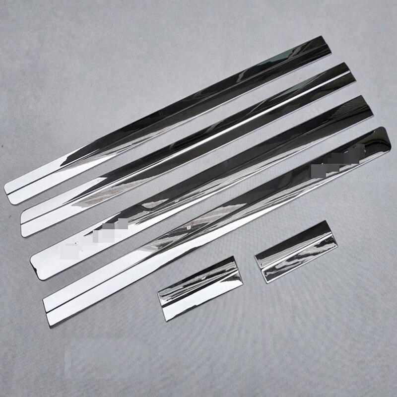 Pour nissan nv200 evalia accessoires chrome bandes de bord de porte bande de carrosserie garniture de voiture