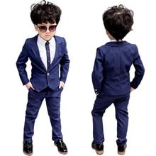 Best Design School Suit for Boys Costume Kids Formal Suits Wedding Boys Suits New 2PCS Kids Jacket Brazer Children Clothing Set цены онлайн
