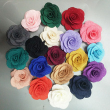 10Pieces/Bag Size 4CM Fabric Rose Flower Handmade Cloth Flowers Hand DIY Material Wedding Bouquet Flower Hair Cloth Accessories