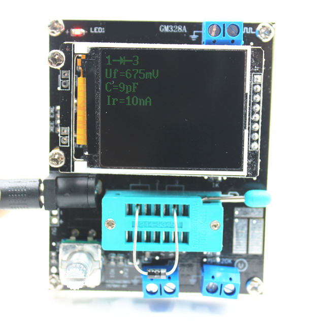 Multi-purpose transistor tester with color display 4