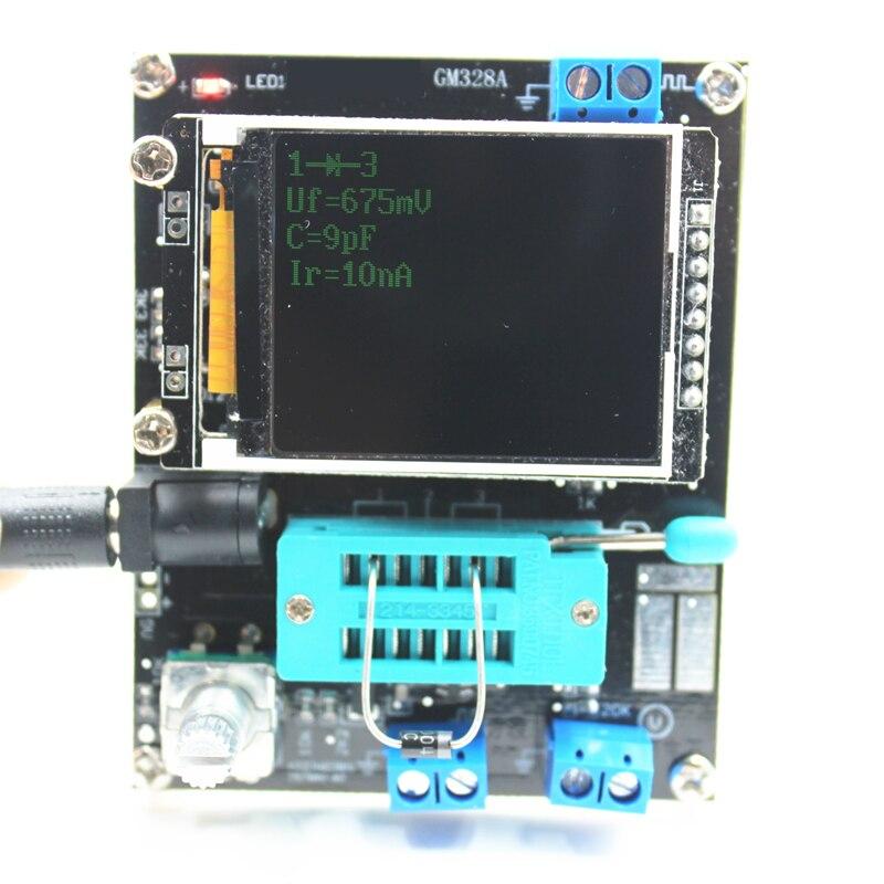 Image 5 - Lcd gm328a transistor tester capacitância esr tensão medidor de  freqüência pwm onda quadrada gerador de sinal smt solda    -