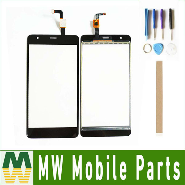 5.5 For Fly Power Plus FHD FS554 Touch Screen Digitizer Front Glass Lens Sensor Panel Black color with tape & Tools image