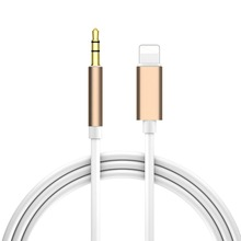 Audio Cable Car AUX for iphone 6 6s 7 7s 8 Plus X XS MAX XR 5 5s SE 1m Speaker Headphone Wire for Lightning to 3.5mm Cable